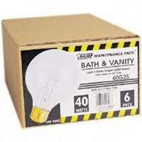 White Medium Base Globe Bulb, 40 Watt 3 1/8""