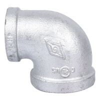 "1"" x 3/4"" "" Galvanized 90 Degree Elbow"
