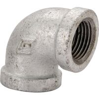 "1 1/4"" x 3/4"" Galvanized 90 Degree Elbow"