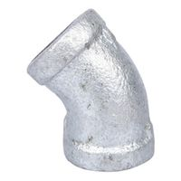 World Wide Sourcing PPG120-10 Galvanized 45 Deg Elbow
