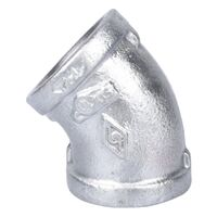 "Galvanized Elbow, 1"" x 45°"