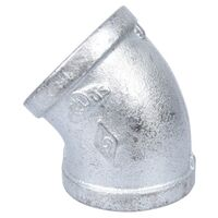 Galvanized Elbow, 45 Degree x 2""