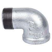 "Galvanized Street Elbow, 1 1/4"" x 90°"