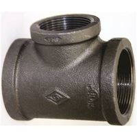 World Wide Sourcing 11A3/4X1/2B Black Pipe Malleable Tee