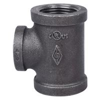 World Wide Sourcing B130R 25X20 Black Pipe malleable Tee