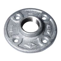 Galvanized Floor Flange, 1""