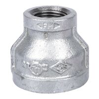 "Galvanized Reducing Coupling, 1"" x 1/2"""