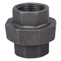 Worldwide Sourcing 34B-1B Black Pipe Ground Joint Union