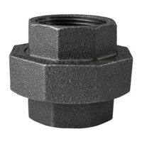 World Wide Sourcing 34B-1-1/4B Black Pipe Gnd Joint Union
