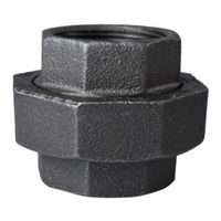 World Wide Sourcing 34B-1-1/2B Black Pipe Gnd Joint Union