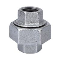Galvanized Malleable Union, 3/8""