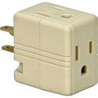 Cooper 1482V Grounding Cube Outlet Adapter