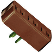 Three Outlet Tap Adapter Brown