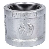Galvanized Malleable Coupling, 2""