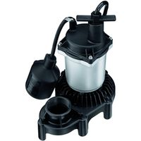 Simer 2955 Submersible Sump Pump With Tethered Switch
