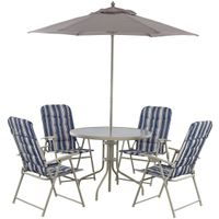 PATIO SET PADDED FOLD 6PC