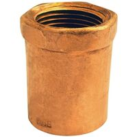 Wrot Copper Pressure Female Adapter, 3/8 x 1/2