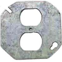 Round Duplex Receptacle Cover, 4&quot;