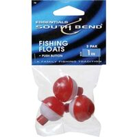 "Red &White Fishing Floats, 1"" 3 Pk"