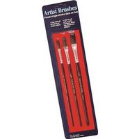 3 PC ARTIST BRUSH ASSORTMENT