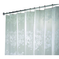 "Fiore Eva Shower Curtain, 72"" x 72"" White"