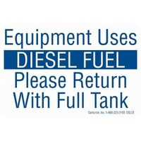 Equipment Uses Diesel Decal