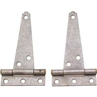 "Light Duty T Hinge, 4"" Galvanized"