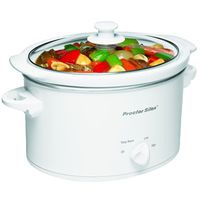 COOKER SLOW OVAL WHITE 3QT
