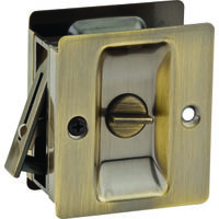 Privacy Pocket Door Latch, 1 3/8""