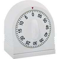 Siixty Minute Single Ring Timer, White