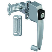 Keyed Push Button Latch, Aluminum