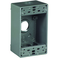 "3/4"" Single Gang Alum Outlet Box"