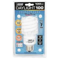 Ecobulb BPESL23TM/D Non-Dimmable Compact Fluorescent Lamp, 23 W, 120 V, Twist, Medium Screw ,