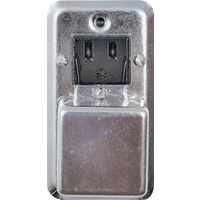 Receptacle Fuse Box Cover, Gray