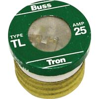 Medium Duty Plug Fuse, 25 Amp