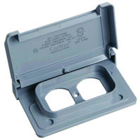 Duplex Receptacle Cover, 1 Gang