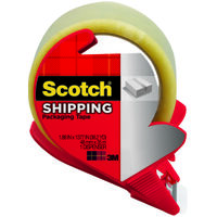 "Shipping Tape with Dispenser, 1.88"" x 54 Yds"