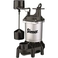 Simer 2957 Submersible Sump Pump With Vertical Side Switch