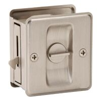 Satin Nickel Sliding Door Lock