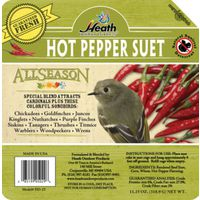Heath Outdoor DD-25 All Season Hot Pepper Suet Cake