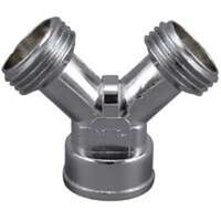 Hose Y Connector Chrome Plate Cast Metal