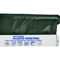 Polyethylene Sheeting, 24' x 100'  Black