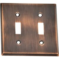 Double Switch Plate, Venetian Bronze