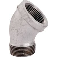 "Galvanized Street Elbow, 3/4"" 45 Degree"