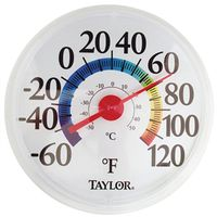 Taylor 6714 Weather Resistant Shatterproof Dial Thermometer