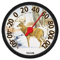 Taylor 6709E Weather Resistant Shatterproof Dial Thermometer