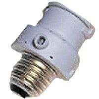 Screw In Compact Fluorescent Lamp Holder with Photo Control