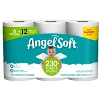 "Angel Soft Toilet Paper, 4.27"" x 4' White 6 Pk"