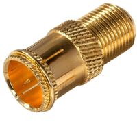 Quick F Connector, Gold