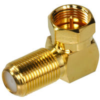 Right Angle Coaxial F Connector, Gold